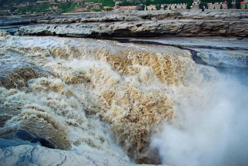 China Yellow River, Shaanxi, Hukou, Waterfall, spektakularne obrazy royalty free