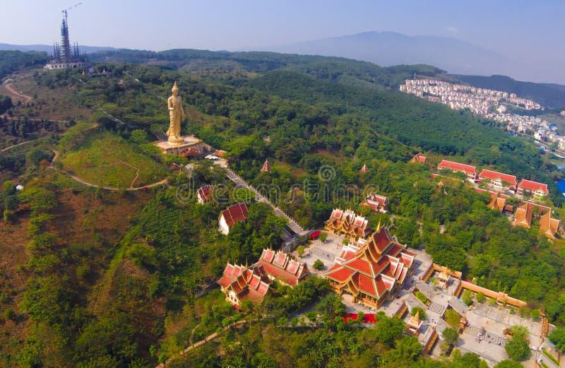 China Yunnan large Buddhist temple. China Yunnan Xishuangbanna large Buddhist temple stock images