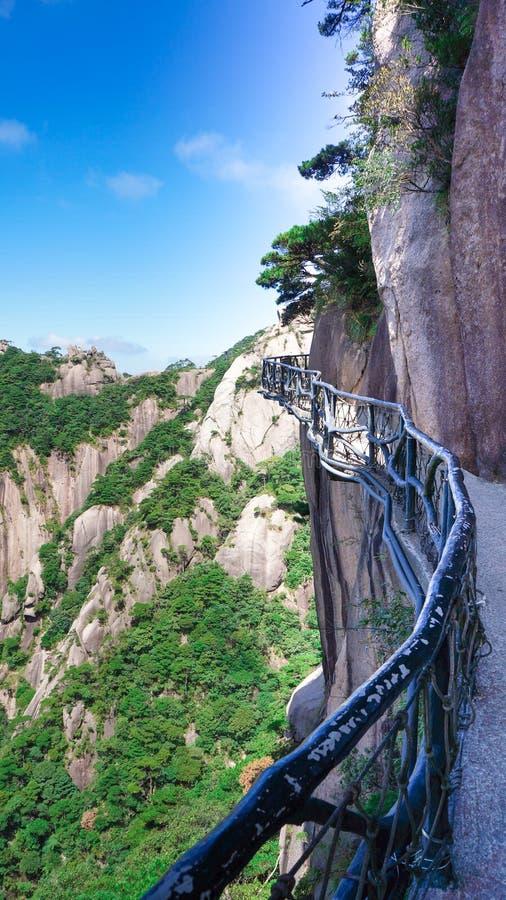 China zet Sanqingshan-landschap op stock afbeelding