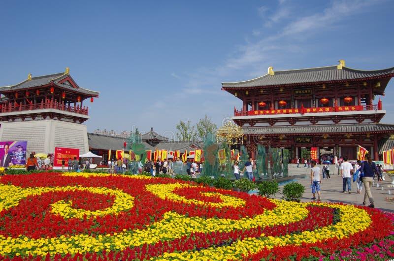 Chinas Anziehungskraft von Feiertag Xi'ans ShiYiQiTian stockbilder