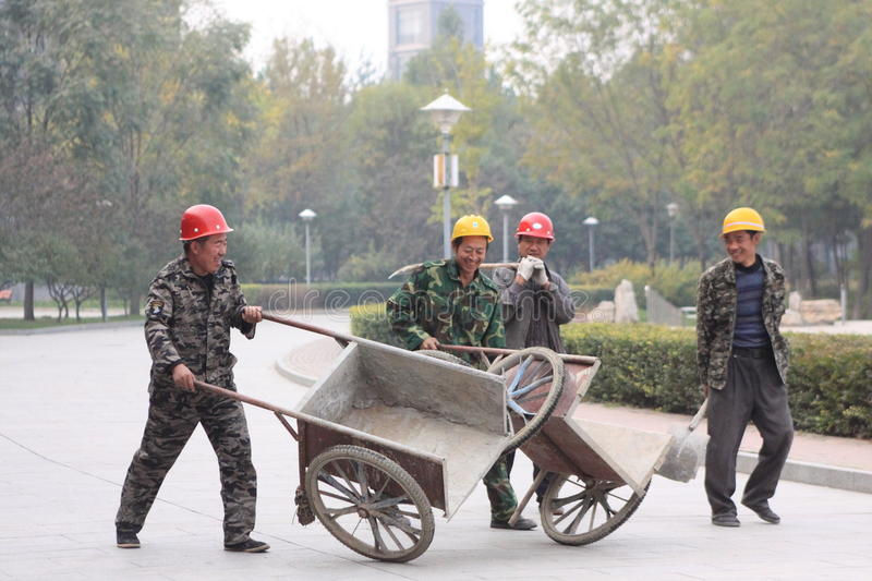 Chinas migrant workers stock image