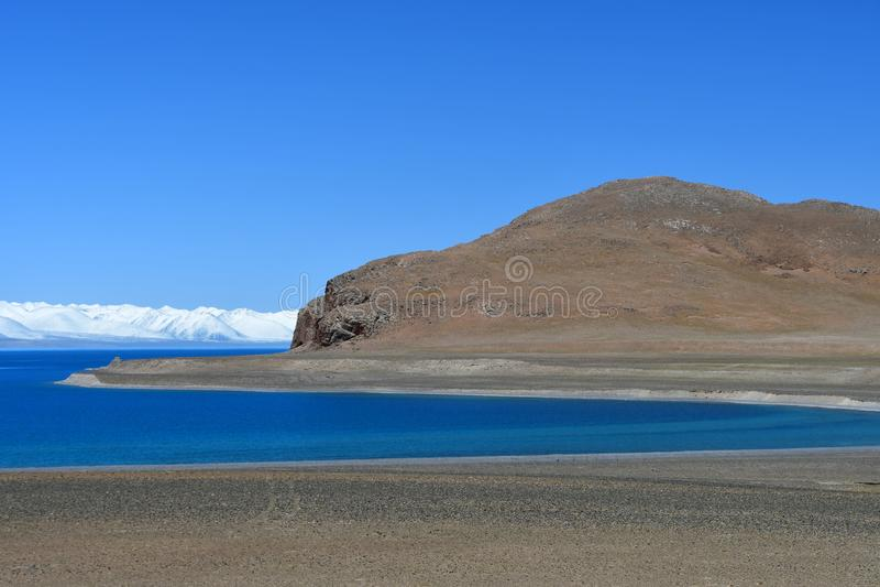 Tibet, lake Nam-Tso Nam Tso in summer, 4718 meters above sea level. Place of power. Chinas. Tibet, lake Nam-Tso Nam Tso in summer, 4718 meters above sea level stock images