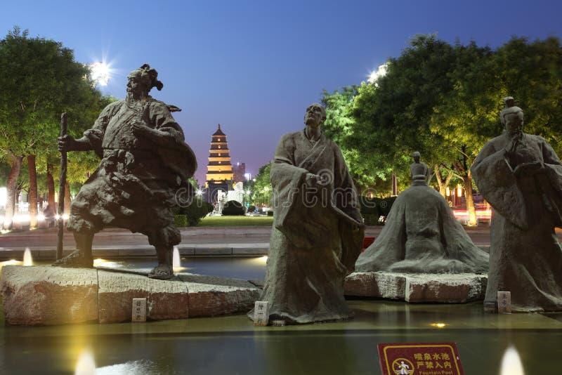 ` Chinas XI ein wildes Ganspagoden- und datang Stadtnaturschutzgebiet in Shaanxi-Provinz lizenzfreies stockfoto