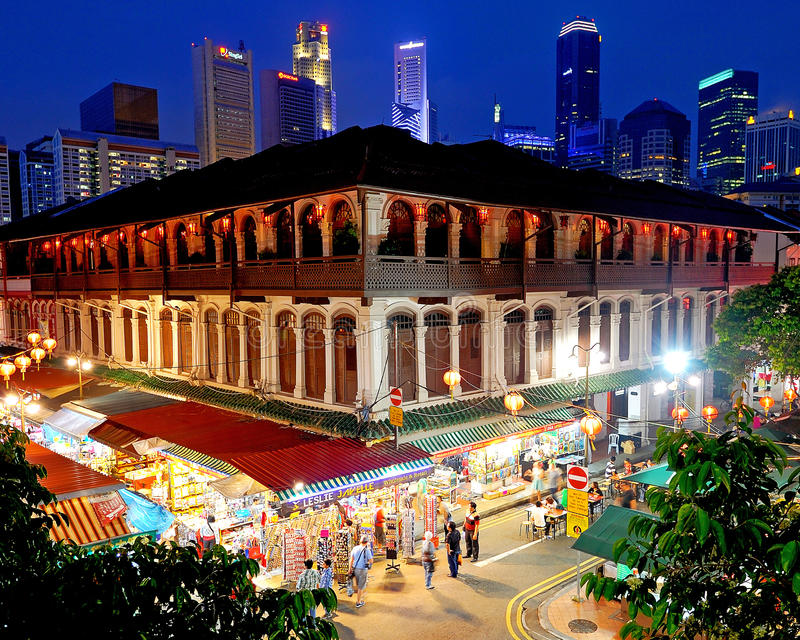 Chinatown, Σινγκαπούρη στοκ εικόνα με δικαίωμα ελεύθερης χρήσης