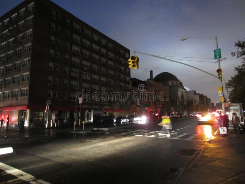 Chinatown после урагана Sandy Редакционное Фото