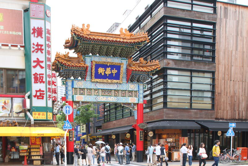 chinatown япония yokohama стоковое фото