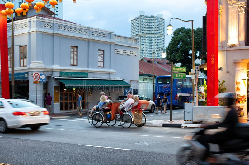 Chinatown area of Singapore stock image