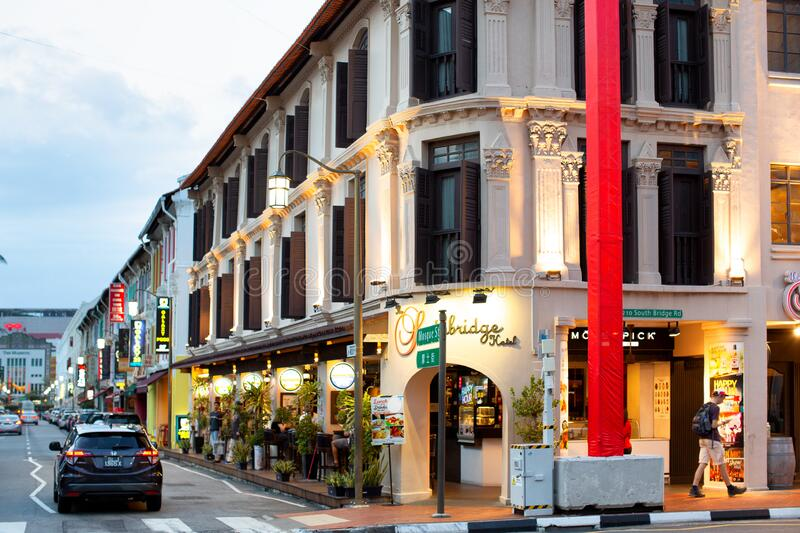 Chinatown area of Singapore stock photo