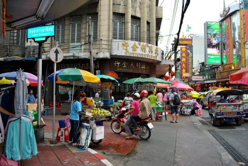 Chinatown in Bangkok stock afbeelding