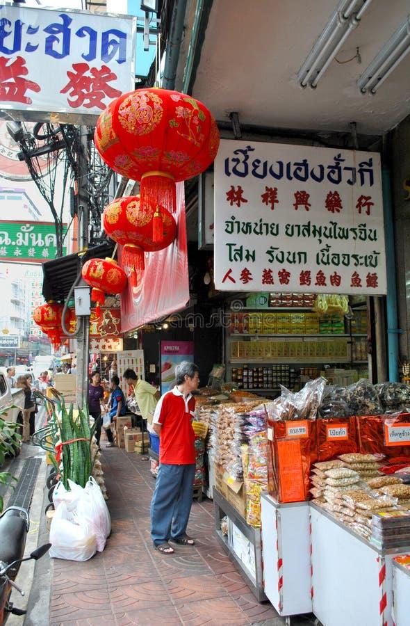 Chinatown in Bangkok stock foto's