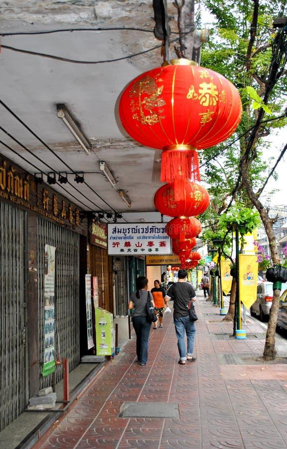 Chinatown in Bangkok stock images