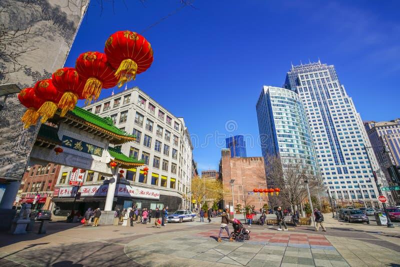 Chinatown brama Boston fotografia royalty free