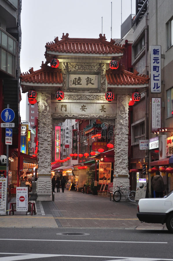 chinatown chouan japan kobe machi måndag nanking royaltyfria bilder