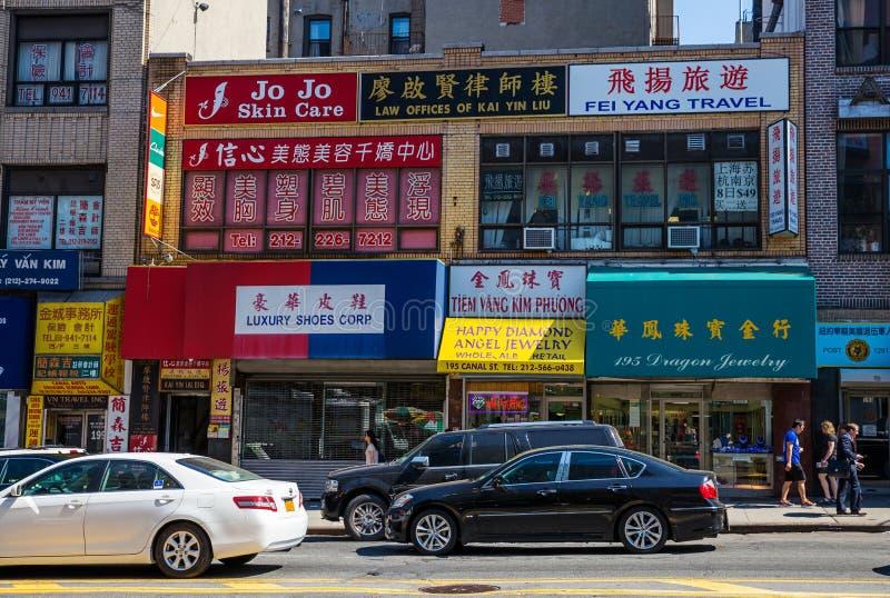 Chinatown, de Stad van New York royalty-vrije stock afbeelding