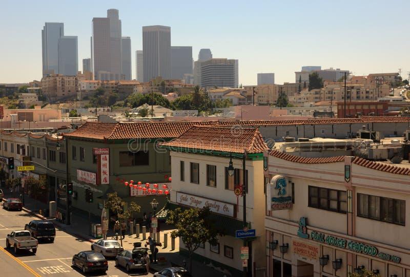 Chinatown de van de binnenstad van Los Angeles royalty-vrije stock foto's