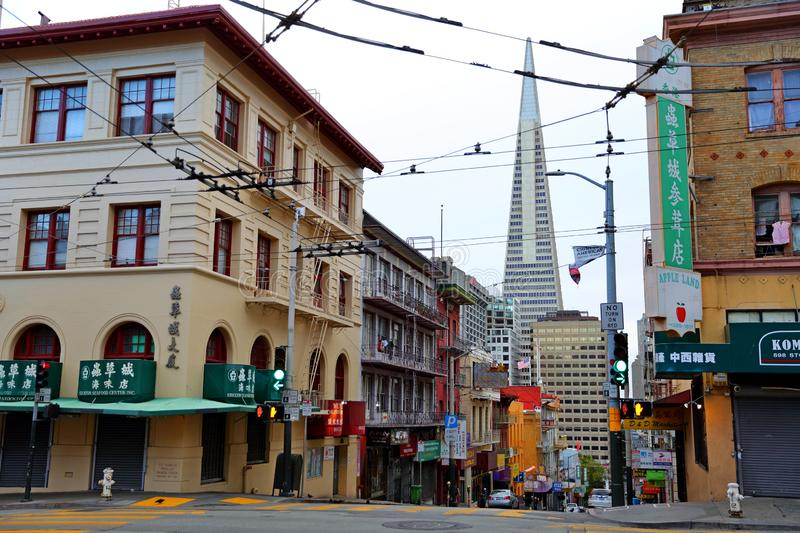 Chinatown district in San Francisco, California, USA royalty free stock photography
