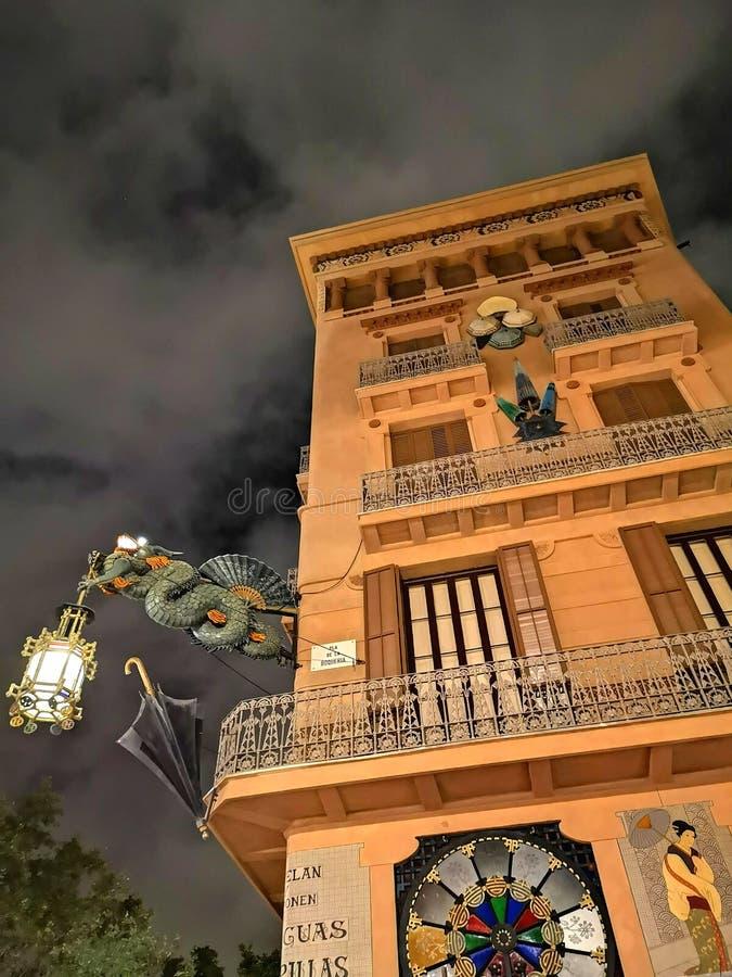 Chinatown, Dragon, Oriental, Barcelona, Spain stock photo