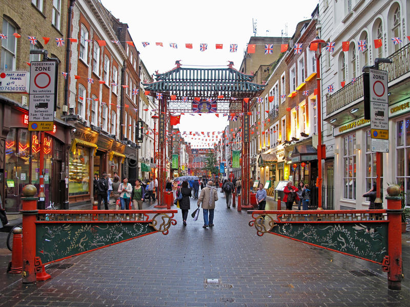 Chinatown em Londres fotografia de stock royalty free