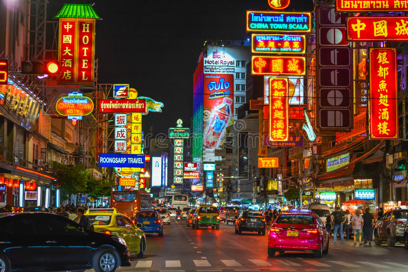 Chinatown en Bangkok - Tailandia fotos de archivo