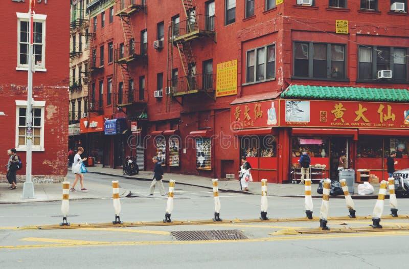 Chinatown frondoso y Pell St fotografía de archivo libre de regalías