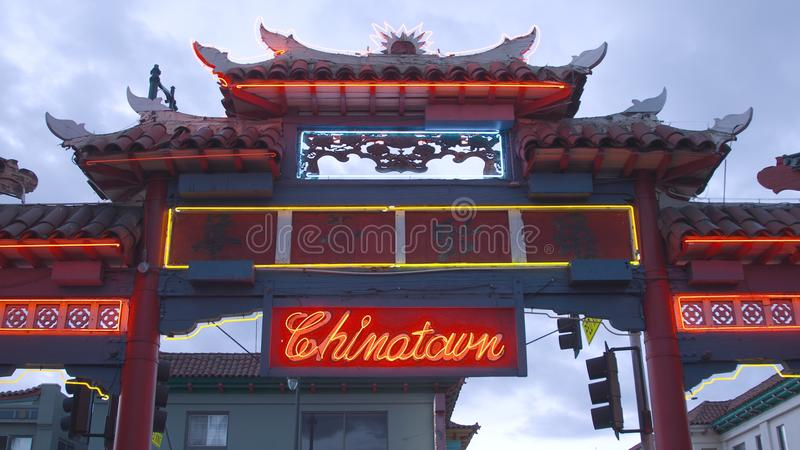 Chinatown Gate royalty free stock photography