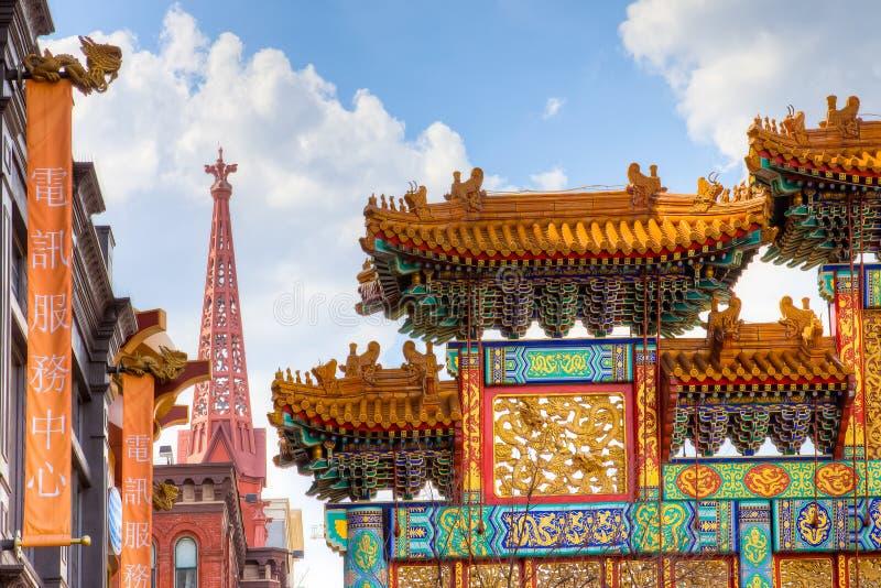 Chinatown gelijkstroom royalty-vrije stock foto