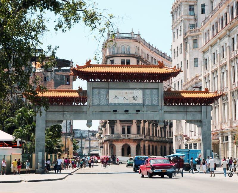 chinatown havana royaltyfri fotografi