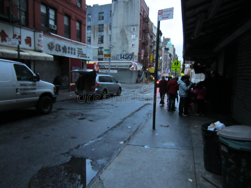 Chinatown After Hurricane Sandy Editorial Image