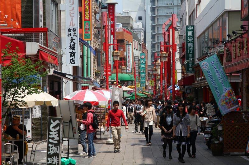 Chinatown i Kobe, Japan royaltyfri foto