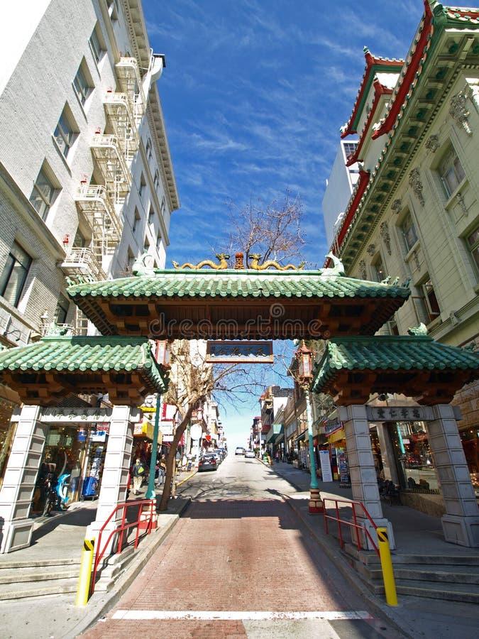 chinatown ingång francisco san royaltyfri foto