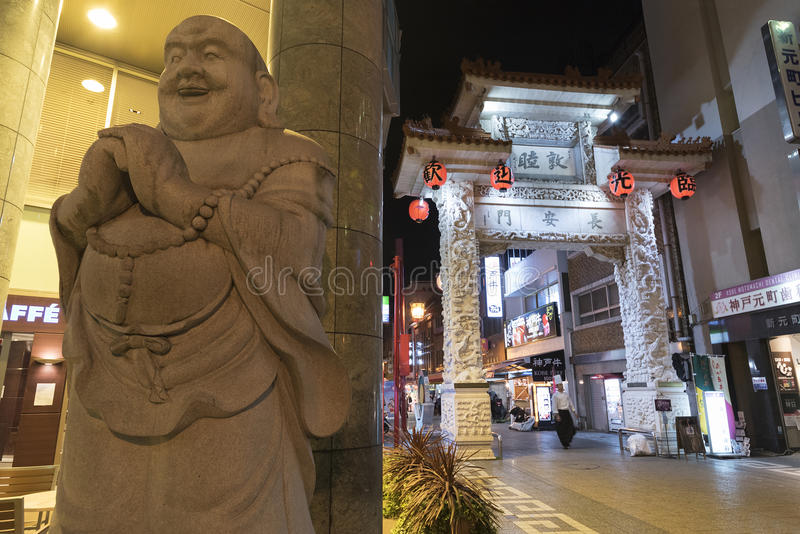 chinatown japan kobe arkivfoton