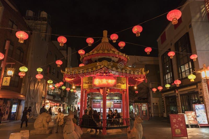 chinatown japan kobe arkivfoto