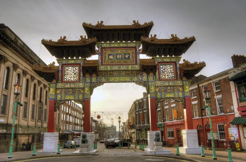 Chinatown Liverpool stock photography