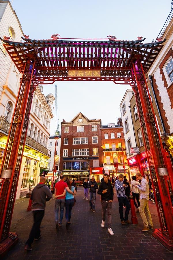 Chinatown in Londen Engeland stock afbeeldingen