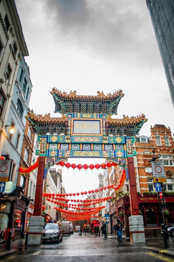 Chinatown, Londres photographie stock libre de droits