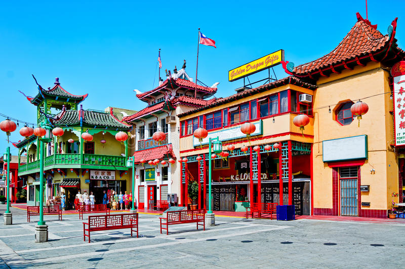 Download Chinatown In Los Angeles editorial image. Image of ethnic - 24975755