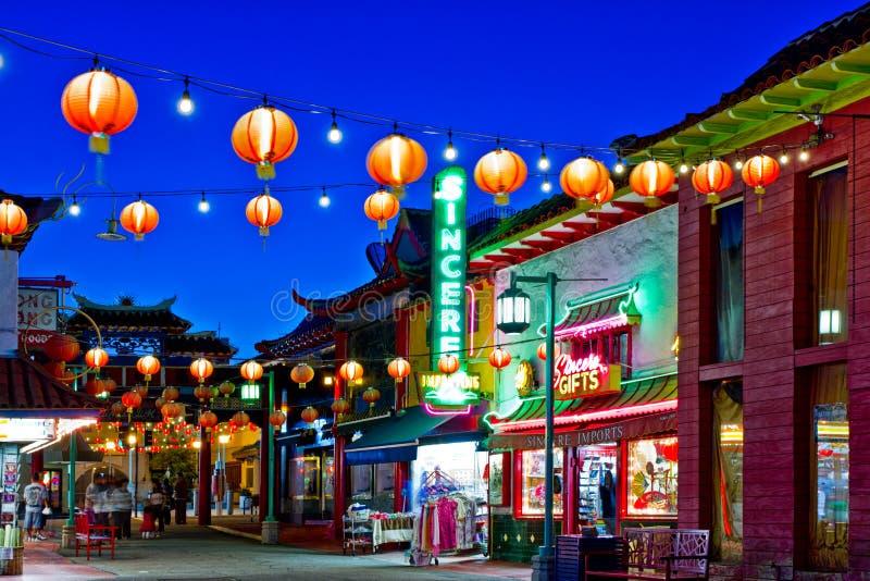 Chinatown in Los Angeles lizenzfreie stockbilder