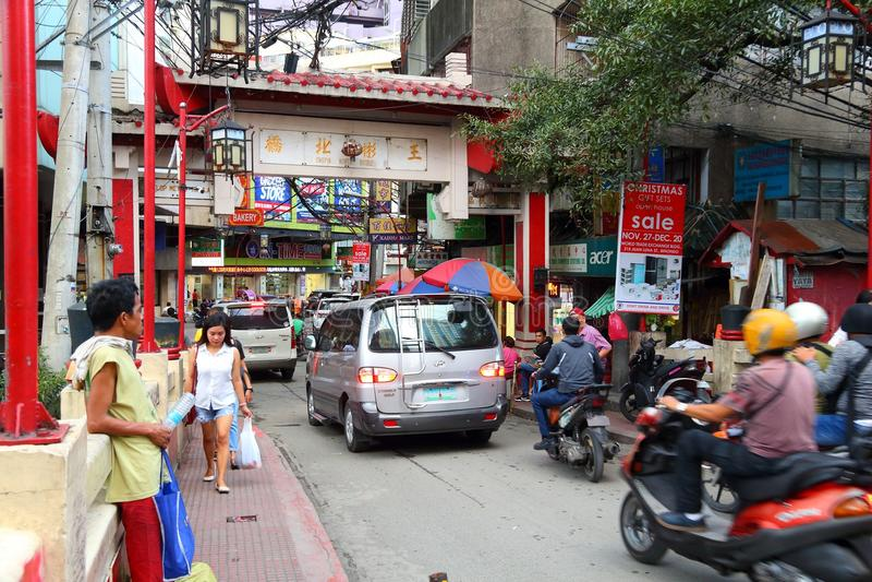 Chinatown, Manila imagenes de archivo