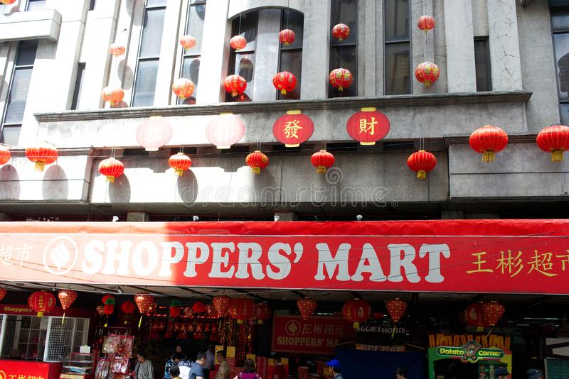 Chinatown in Manila stock image