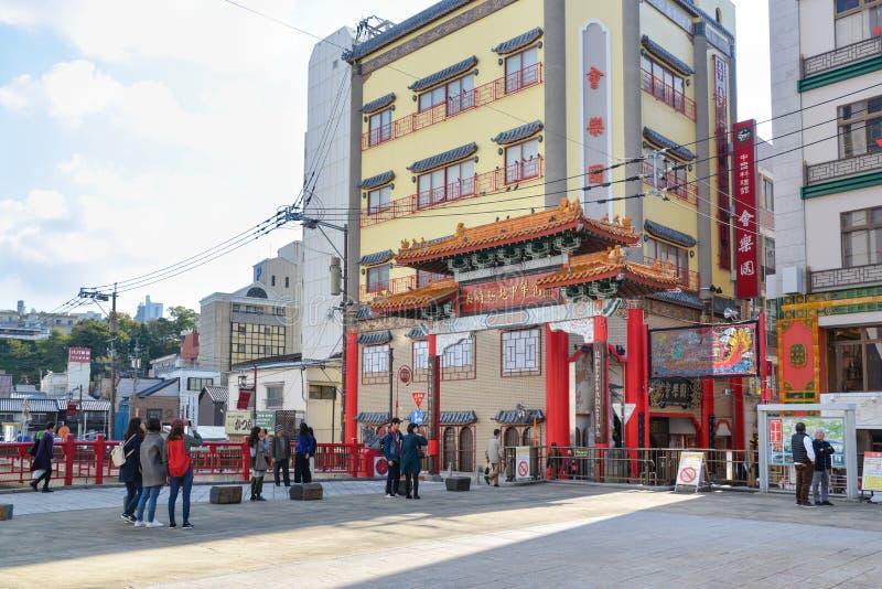 Chinatown Nagasaki, Japón fotografía de archivo