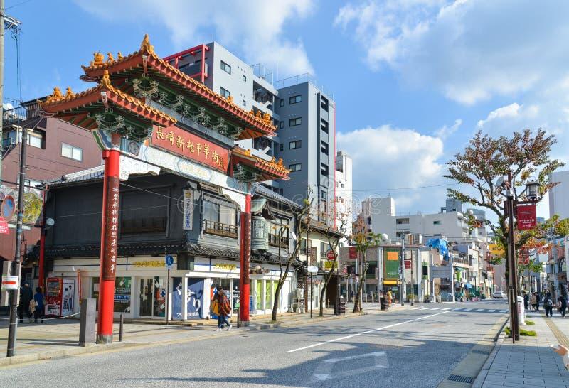 Chinatown Nagasaki, Japón fotos de archivo libres de regalías