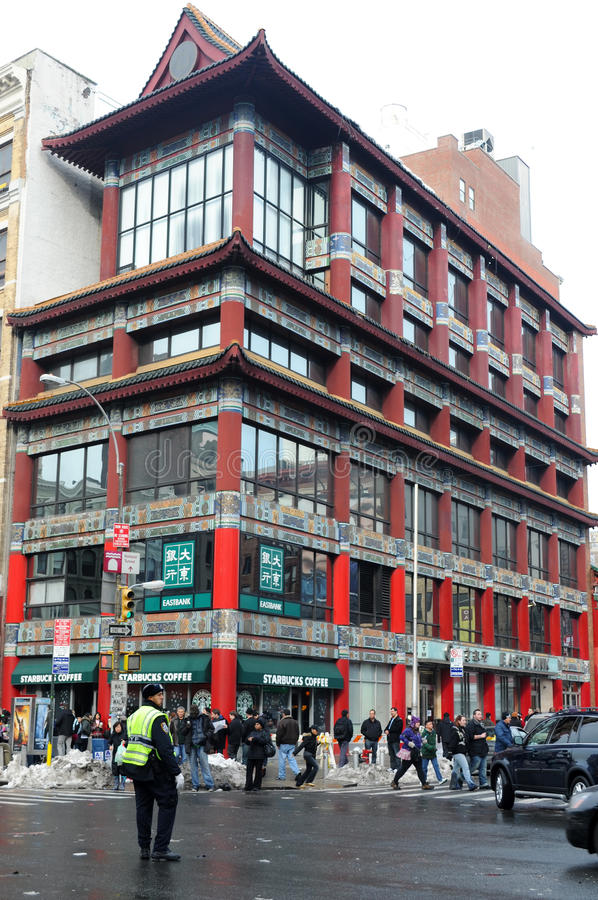 chinatown New York royaltyfri foto