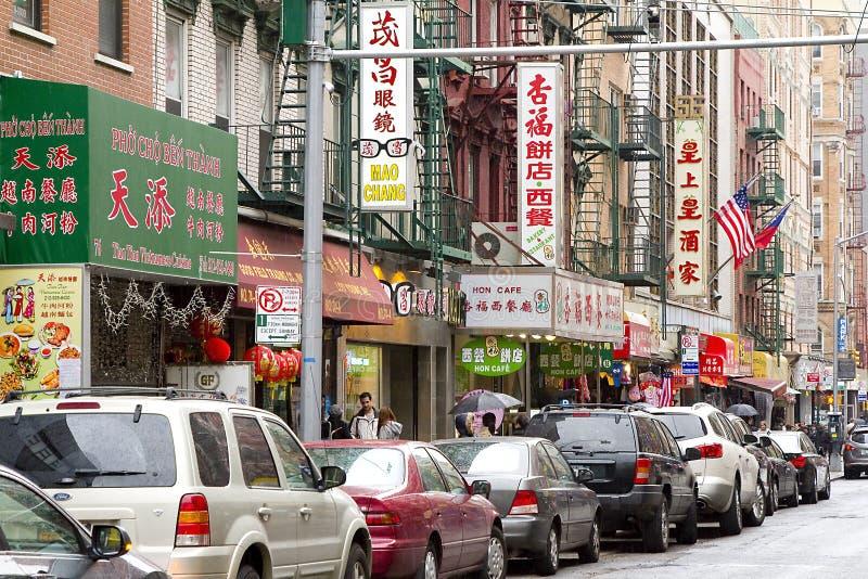 Chinatown, New York stock foto's