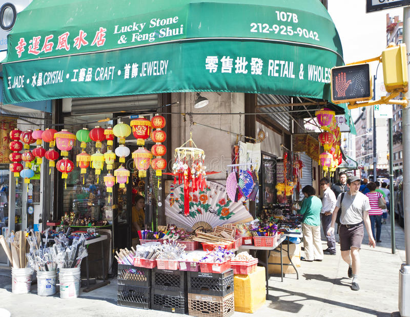 Chinatown a New York immagini stock