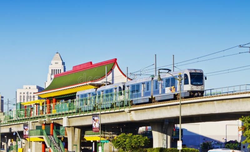 chinatown odjeżdżania stacja metru pociąg fotografia stock