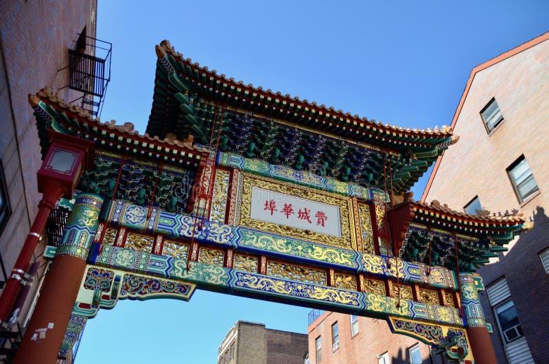 chinatown philadelphia arkivbilder