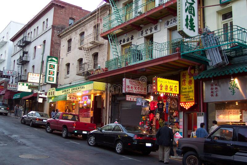 Chinatown Restaurants in San Francisco royalty free stock photos