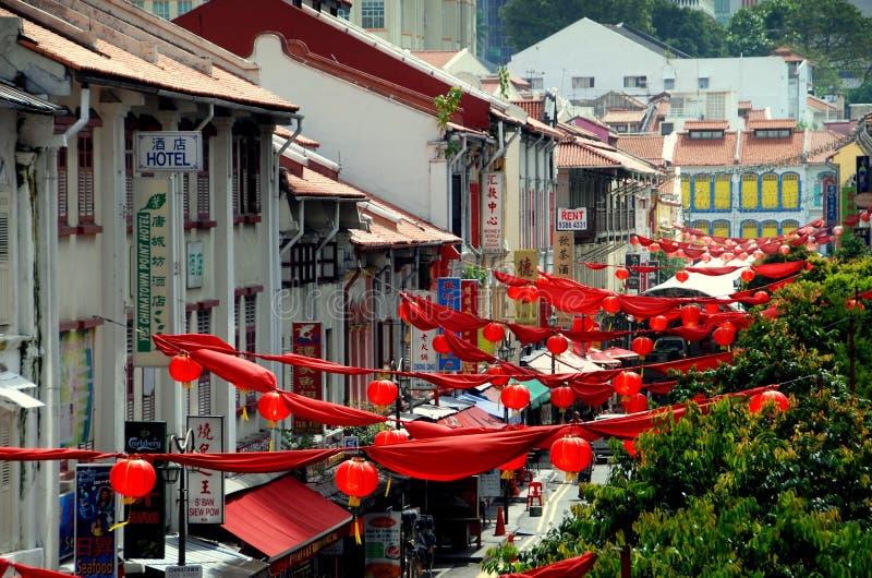 chinatown s singapore smedgata royaltyfri fotografi