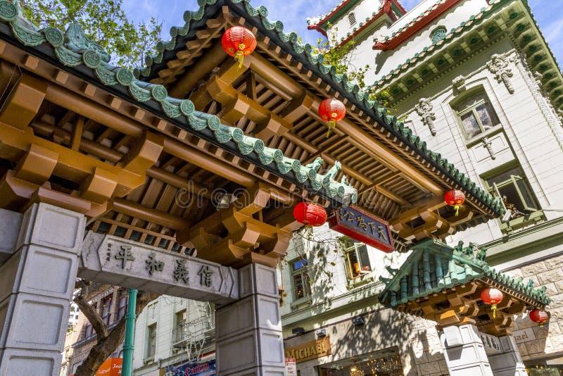 Chinatown, San Francisco, CA photos libres de droits