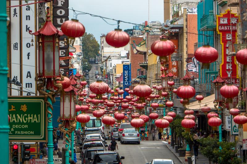 Chinatown, San Francisco, CA photo stock